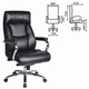 Кресло офисное BRABIX «Phaeton EX-502», натуральная кожа, хром, черное