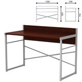 Стол письменный на металлокаркасе, 1200×590×855 мм, серый каркас, ЛДСП, «орех»
