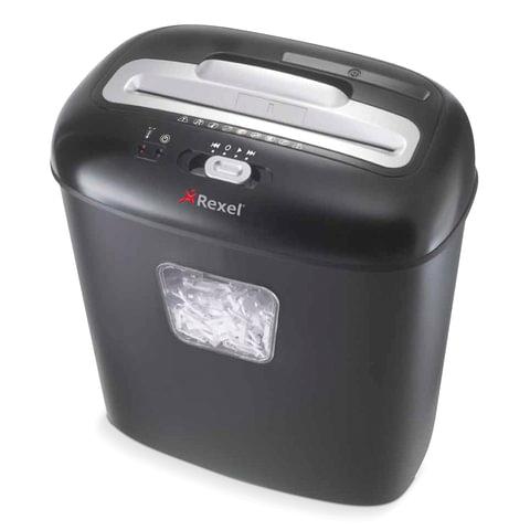Уничтожитель (шредер) REXEL DUO, для 1-2 человек, 3 уровень секретности, 4×45 мм, 10 листов, 17 л, скобы, скрепки, карты, CD