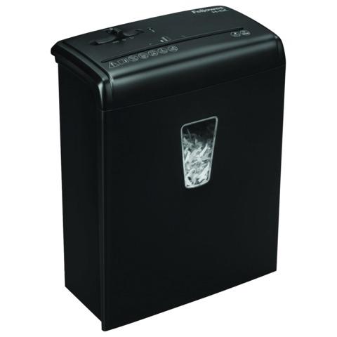 Уничтожитель (шредер) FELLOWES H-6C, для 1 человека, 4 уровень секретности, 4×35 мм, 6 листов, 11 л, скобы, скрепки, карты