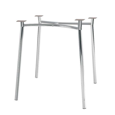 Рама стола для столовых, кафе, дома «Tiramisu» (800хг800 мм), хром