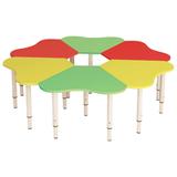 Стол детский «Ромашка», 6 лепестков, 1300×1300×400-580 мм, регулируемый, рост 0-3 (85-145 см), 3 цвета