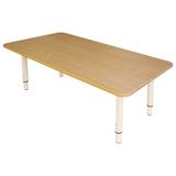 Стол детский «Дошколенок» 900×450×400-580 мм, регулируемый, рост 0-3 (85-145 см), пластик, бук, слоновая кость