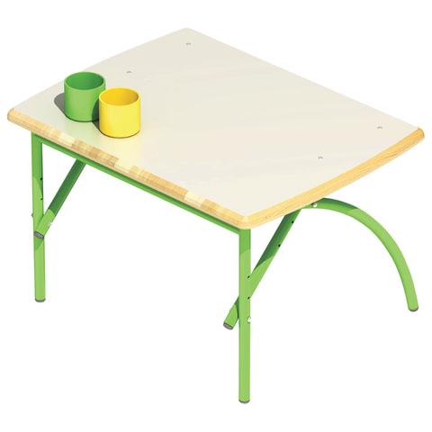 """Стол детский """"Бамбуча"""", 600х450х460-580 мм, регулируемый, рост 1-3 (100-145 см), фанера/металл, зеленый"""