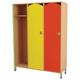 Шкаф для одежды детский, 3 отделения, 1080×340×1340 мм, бук бавария/<wbr/>цветной фасад