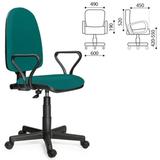 Кресло оператора «Престиж» с подлокотниками, зеленое
