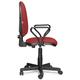 Кресло оператора «Престиж» с подлокотниками, черно-красное