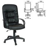Кресло офисное «Лидер», СН 416, кожзам, черное
