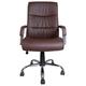 Кресло офисное BRABIX «Space EX-508», экокожа, хром, коричневое