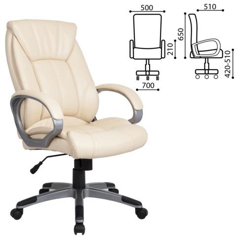 "Кресло офисное BRABIX ""Maestro EX-506"", экокожа, бежевое"