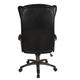 Кресло офисное CH-879DG, экокожа, черное, пластик темно-серый