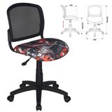 Кресло оператора CH-296NX/<wbr/>GRAFFITY без подлокотников, черное с рисунком