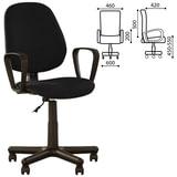 Кресло оператора «Forex GTP» с подлокотниками, черно-серое