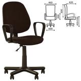 Кресло оператора «Forex GTP» с подлокотниками, коричневое