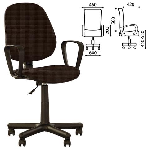 "Кресло оператора ""Forex GTP"" с подлокотниками, коричневое"