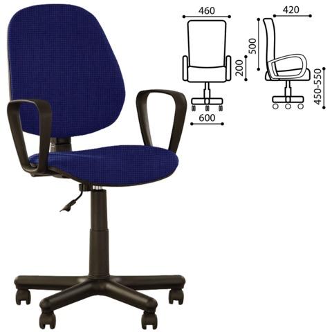 Кресло оператора «Forex GTP» с подлокотниками, сине-черное