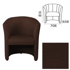 Кресло «Club», 708×658×814 мм, c подлокотниками, кожзам, темно-коричневое