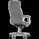 Кресло офисное «California steel chrome», экокожа, хром, серое