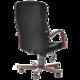Кресло офисное «Консул-экстра», кожа, дерево (махагон), черное