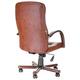 Кресло офисное «Консул-экстра», кожа, дерево (махагон), коричневое