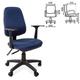Кресло оператора СН 661 с подлокотниками, синее