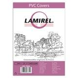 Обложки для переплета LAMIREL, комплект 100 шт., Transparent, А4, пластик 150 мкм, прозрачные