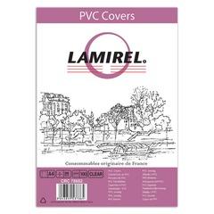 Обложки для переплета LAMIREL, комплект 100 шт., Transparent, А4, пластик 200 мкм, прозрачные