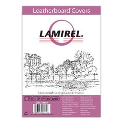 Обложки для переплета LAMIREL, комплект 100 шт., Delta (тиснение под кожу), А4, картон 230 г/<wbr/>м<sup>2</sup>, белые