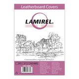 Обложки для переплета LAMIREL, комплект 100 шт., Delta (тиснение под кожу), А4, картонные 230 г/<wbr/>м<sup>2</sup>, белые