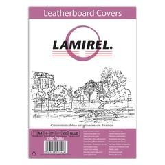 Обложки для переплета LAMIREL, комплект 100 шт., Delta (тиснение под кожу), А4, картон 230 г/<wbr/>м<sup>2</sup>, синие
