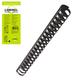 Пружины пластиковые для переплета LAMIREL, комплект 100 шт., 8 мм, для сшивания 21-40 л., черные