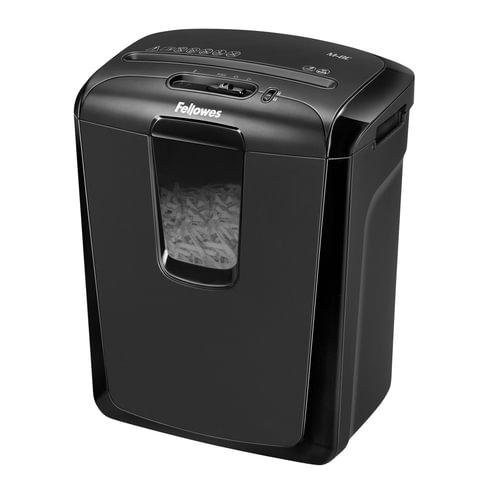 Уничтожитель (шредер) FELLOWES M-8C, для 1 человека, 3 уровень секретности, 4×50 мм, 8 листов, 15 л, карты, скобы, скрепки, CD