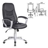 Кресло офисное T-9910/<wbr/>BLACK, кожзам, черное