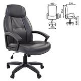 Кресло офисное BRABIX «Formula EX-537», экокожа, серое