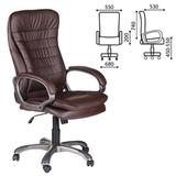 Кресло офисное BRABIX «Omega EX-589», экокожа, коричневое