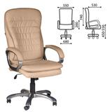 Кресло офисное BRABIX «Omega EX-589», экокожа, песочное