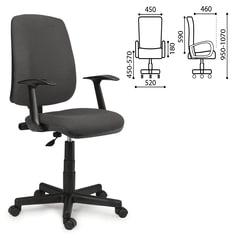 Кресло оператора BRABIX «Basic MG-310», с подлокотниками, серое, KB