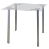 Рама стола для столовых, кафе, дома «Альфа», универсальная, цвет серебристый