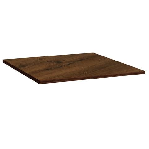 Столешница к столу для столовых 800х800 мм, Corund 1010, ОСОБО ПРОЧНЫЙ ПЛАСТИК, орех монпелье