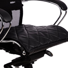 Накладка на сиденье для кресла «SAMURAI», кожа, черная