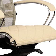 Накладка на сиденье для кресла «SAMURAI», кожа, бежевая