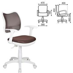 Кресло CH-W797/<wbr/>BR с подлокотниками, коричневое, пластик белый