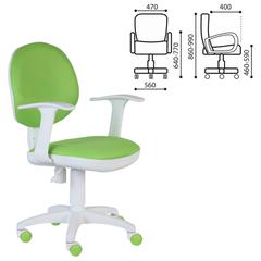 Кресло CH-W356AXSN с подлокотниками, светло-зеленое, пластик белый
