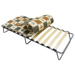 Кровать раскладная (раскладушка), 1900×800×350 мм, на ламелях, с матрацем 50 мм, «Камилла», ARNO