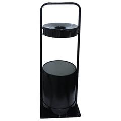 Урна металлическая уличная с пепельницей, 781×290×290 мм, 15 литров, цвет черный, СЛП3-250