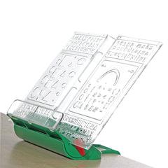 Подставка для книг ДЭМИ «Трафарет», пластиковая, зеленая