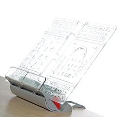 Подставка для книг ДЭМИ «Трафарет», пластиковая, серая