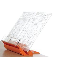 Подставка для книг ДЭМИ «Трафарет», пластиковая, оранжевая