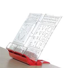 Подставка для книг ДЭМИ «Трафарет», пластиковая, красная