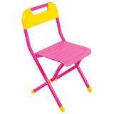 Стул детский ДЭМИ складной, 330×327×540 мм, розовый/<wbr/>желтый, рост 2 (115-130 см), ССД.02